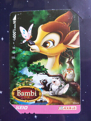 Used Japanese Disney Bambi Train Card Sealed in Collector Pack