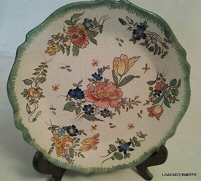 Late 19th.century FRENCH FLORAL HAND PAINTED  PLATE