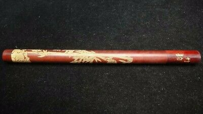 Very Rare Old Fine Chinese Bamboo Carving Letter Tube Good Quality