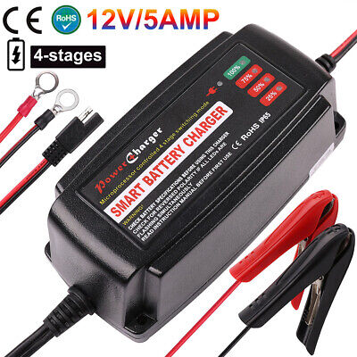 BC1205 ART+Case VMAX 12V 5A Smart Battery Charger Maintainer for Toyota