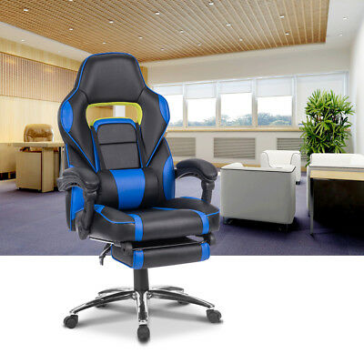 Executive Ergonomic Racing Gaming Chair Computer Desk Office Reclining High-Back