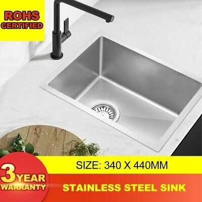 Cefito 340 x 440mm Stainless Steel 304 Single Sink Kitchen Handmade Bowl Laundry