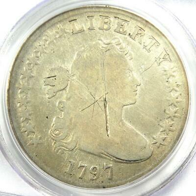 1797 Draped Bust Small Eagle Silver Dollar $1 - PCGS Good Details - Rare Coin!