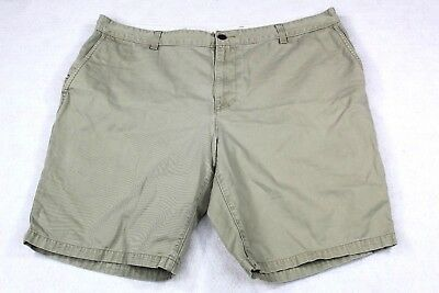 Dockers Mens Khaki Beige Flat Front Loose Fit Chino Shorts Size 42 golf outdoor