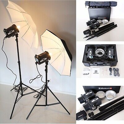 As New - Professional Elinchrom Style RX 600/600 To Go Pro Set