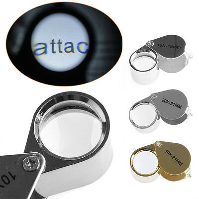 Mini Triplet Jeweler Eye Loupe Magnifier Magnifying Glass Jewelry Diamond+Box CN