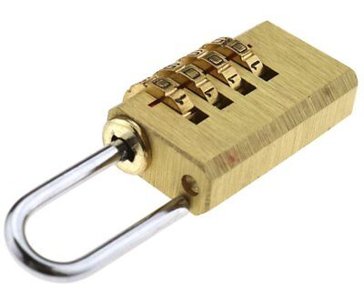 Brass Resettable Combination Padlock Suitcase Travel Security Backpack Tent Lock