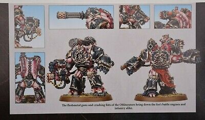 Warhammer 40k Chaos Space Marines Obliterators (2) Shadowspear -NoS-