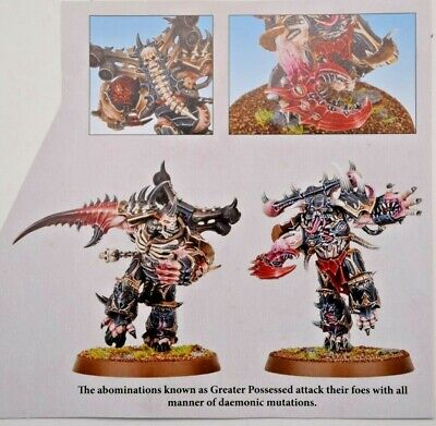 Warhammer 40k Chaos Space Marines Greater Possessed (2) Shadowspear -NoS-