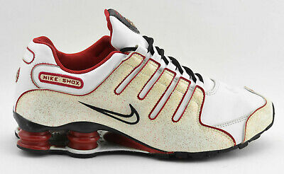 the latest 1a5d5 5720f Womens Nike Shox 2008 Running Shoes Size 9.5 White Red Black Leather 311137  112