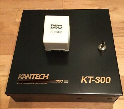 Kantech KT-300 2 door controller cabinet Used PC board with key and power supply