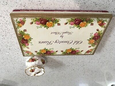 Royal Albert Old Country Roses pair of butter dishes new in box and lidded trink