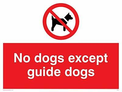 Viking signos pv47-a1l-3dno Dogs Except Guide Dogs signo, PVC, 3mm doble cara