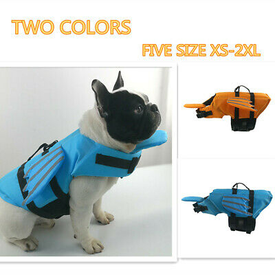 Dog Puppy Pet Life Jacket Dog Swimming Flotation Saver Safety Vest Reflective