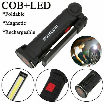 COB LED Work Light Torch Rechargeable Cordless Inspection Lamp Emergency Lamp UK
