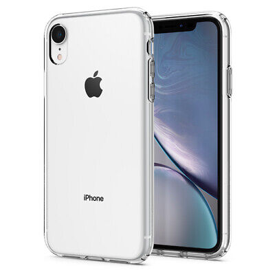 iPhone XR Case, Spigen Liquid Crystal Cover Case - Crystal Clear