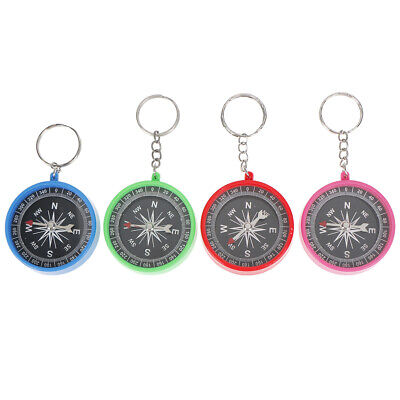 Outdoor compass keychain outdoor camping plastic compass hiking hiker  ^S
