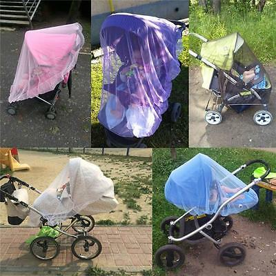 Baby Buggy Pram Mosquito Cover Net Pushchair Stroller Fly Insect Protector HY