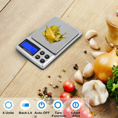Digital Electronic Pocket Food Weight Scale LCD Kitchen Weighing 0.01g-1000g UK