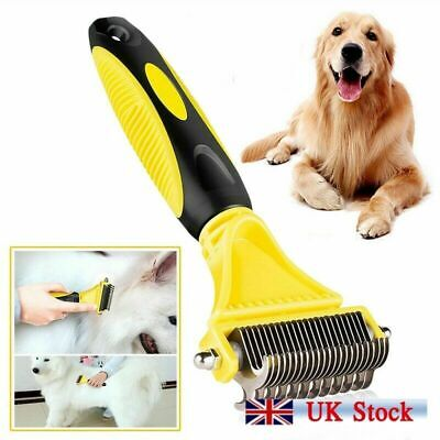 Double Side Cat Dog Deshedding Grooming Undercoat Brush Comb Rake Stripping Tool