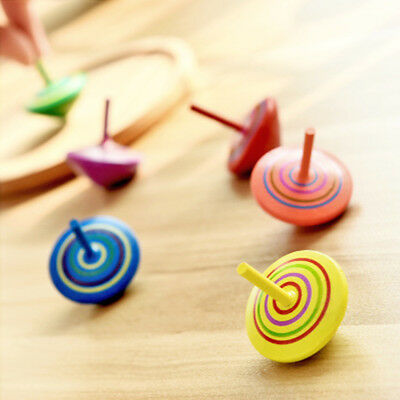 3Pcs Wooden Spinning Top Toys Leisure Hand Spinning Toys For Kid Children Gift