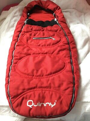 Quinny Red Footmuff Cosy Toe Sleeping Bag great condition very warm