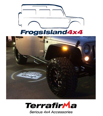 Tf681 Terrafirma Jeep Logo Puddle Lamps Pair - All Vehicles