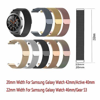Stainless Steel Magnetic Wristwatch Band Strap For Samsung Galaxy Watch 42/46mm