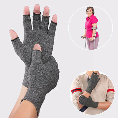 Arthritis Compression Gloves Fingerless Hand Wrist Support Therapy Mittens 1pc