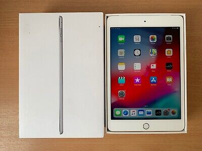 GRADE A Apple iPad mini 4 128GB, Wi-Fi + Cellular (Unlocked), 7.9in - Silver