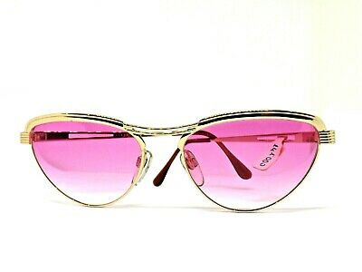 Vogue Sunglasses Vintage Ages 80 'S Italy Sunglassses Retro Pink Gold Woman
