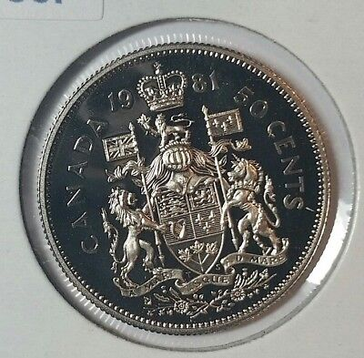 1981 Canada Proof Fifty Cent ($.50) Coin ~Uncirculated ~