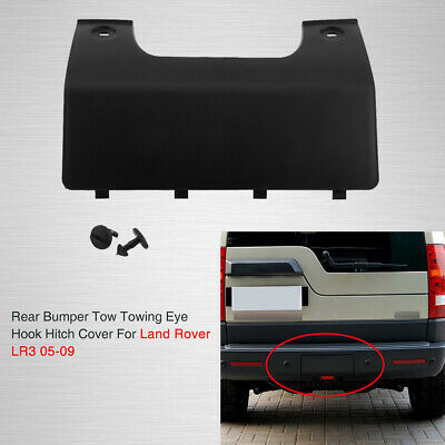 Black Rear Bumper Tow Eye Cover Panel For Land Rover Discovery 3 4 DPO500011PCL