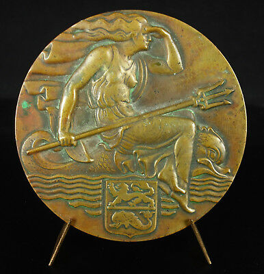 Medal Eamf Mechanics Navy French to M Juzon 1947 Allegorie at the Trident