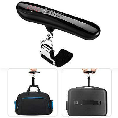 50kg Portable LCD Digital Hook Hanging Luggage Scale Suitcase Bag Weigher Beamy