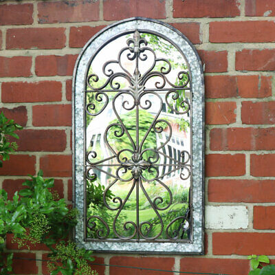 Decorative arched metal wall mirror home gardern vintage shabby chic home decor
