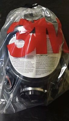 3M 7800S-L Full Face Respirator – Large, Silicone Full Facepiece NEW