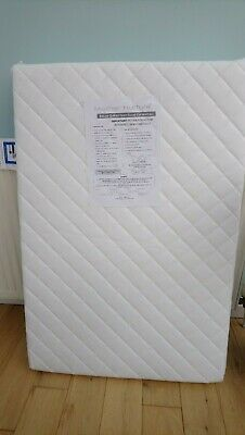 UK Made Deluxe Quilted Travel Cot Mattress – 95x65cm - White
