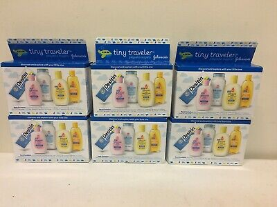 Lot of 6 Johnson's Tiny Traveler Baby Bath And Skin Care Products, Travel Set