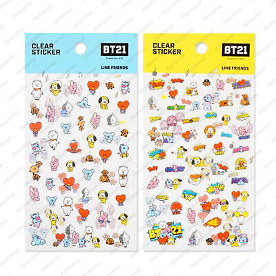 BTS X Kumhong fancy NEW BT21 OFFICIA CLEAR STICKER ver.03, Free Shipping+Trackin