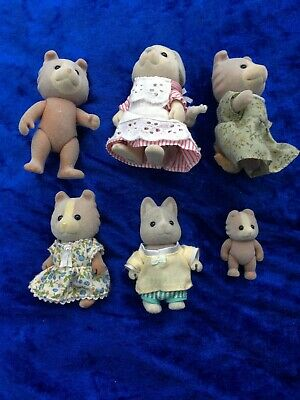 Sylvanian Families Mixed Dog Family - 6 Figures - Calico Critters Epoch