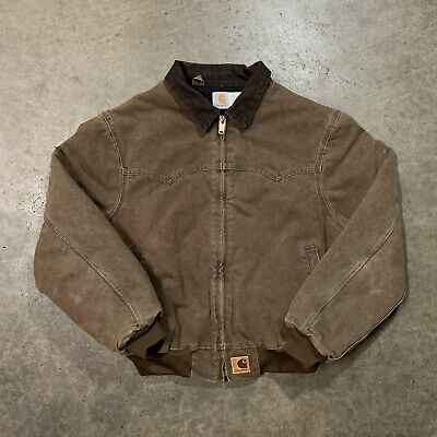 f4f842dfc1 Vintage 90's Carhartt Mens Brown Canvas Quilt Lined Work Jacket Size XL