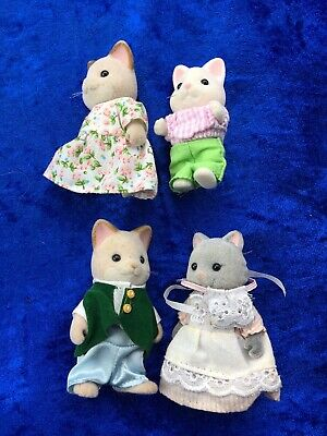 Sylvanian Families Mixed Cat Family - 4 Figures - Calico Critters Epoch