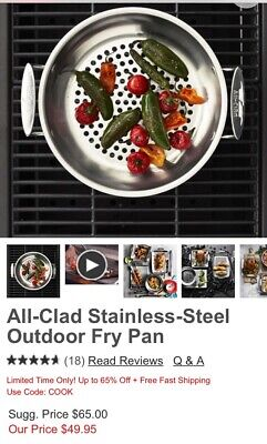 All-Clad Stainless Outdoor Fry Pan