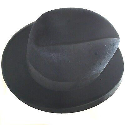 Men's bowler hat, size 7 1/4 (57.8 cm, 22 3/4 inches), black, made by Thrussells