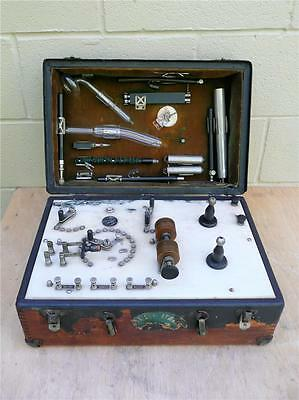Antique HG Fischer Type K Portable Electrotherapy Diathermy Machine