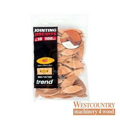 TREND BSC/10/100 BISCUITS for Biscuit Jointer Size 10 pack of 100