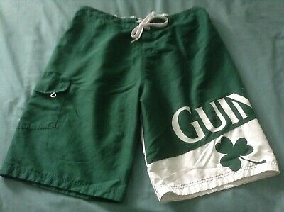 3b715809e1 MEN'S GUINNESS BEER 2Xl LINED GREEN BOARD SHORTS WITH SIDE CARGO POCKET.