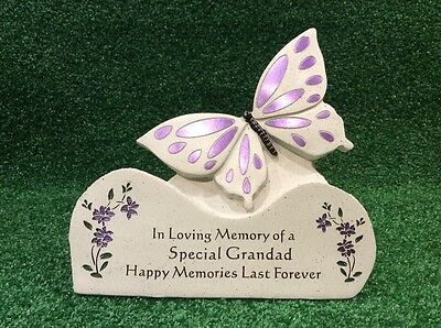 Grandad Butterfly Grave Memorial Ornament, Graveside Remembrance Cemetery  Gift