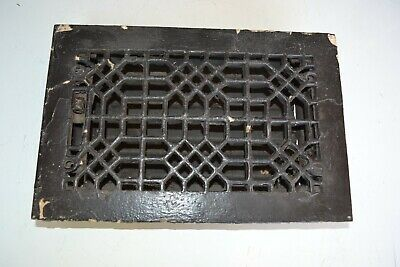 Antique Cast Iron Decorative Heat Grate Floor Register 6X10 Vintage